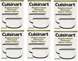 CUISINART DCC RWF 6 PACK CHARCOAL WATER FILTERS TOTAL 12 FILTERS