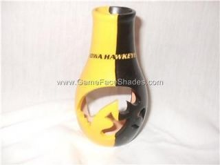 Iowa Hawkeyes Logo & Color Chiminea Candle Holder