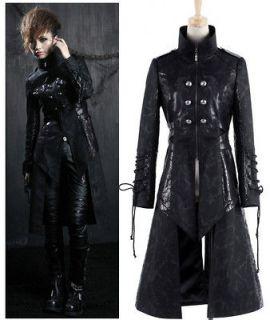 NEW ARRIVAL Classical Goth Punk Black Rock Fashion Unisex Long Jacket