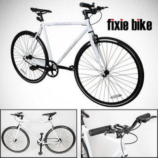 Fixed Gear Bike Single Speed Riser Bar Fixie Road Bike Track Bicycle