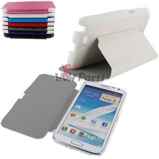 Luxury Flip PU Leather Case Cover Stand For Samsung Galaxy Note 2 II