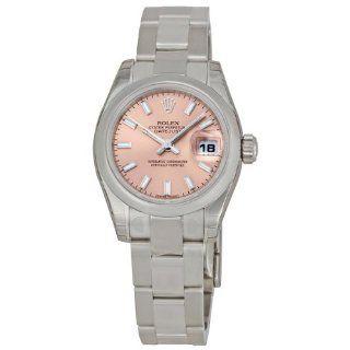 Rolex Datejust Pink Index Dial Oyster Bracelet Ladies Watch 179160PSO