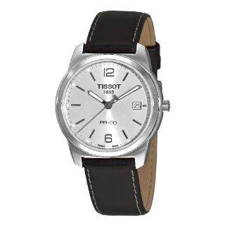 Tissot Mens T0494101603701 PR 100 Silver Dial Black Strap Watch