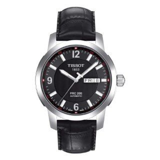 Tissot Mens T0144301605700 PRC 200 Black Day Date Dial Watch Watches