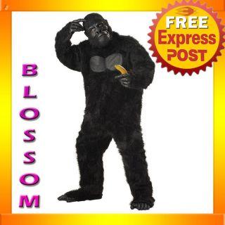 C126 Mens Gorilla Ape Monkey Scary Halloween Adult Fancy Dress Costume