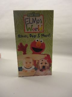 Sesame Street Elmos World Babies Dogs and More VHS