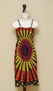 Funky People Size Medium Medallion Hippie Maxi Dress