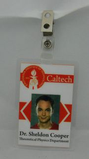 The Big Bang Theory ID Badge Caltech Dr. Sheldon Cooper Theoretical