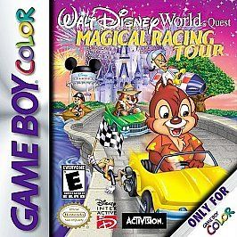 Disney World Magical Racing Tour Nintendo Game Boy Color Advance SP