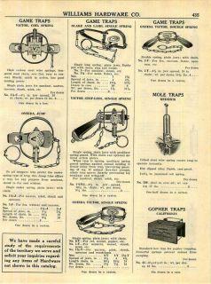 1951 Blake Lamb Victor Oneida Gane Traps Leg Hold ad