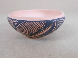 Acoma Pueblo mini pottery bowl, signed
