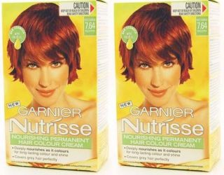 GARNIER NUTRISSE COLOUR CREAM 7.64 NECTARINE RED COPPER HAIR