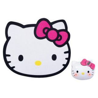 Hello Kitty Wireless Mouse and Mousepad Set   Pink/White (KT4093
