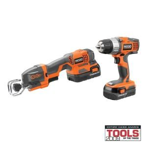 RIDGID 18 Volt Drill and One Handed Reciprocating Combo R9682 at The