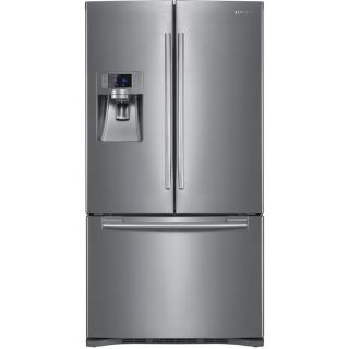 Shop Samsung 22.5 cu ft French Door Counter Depth Refrigerator