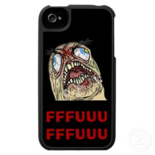 FUUUU Internet Meme Rage Face Iphone Cases from Zazzle
