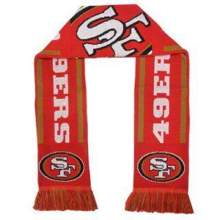 San Francisco 49ers Holiday Stripe Scarf