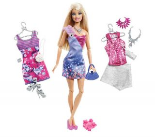 MATTEL Barbie Fashionistas   Glam doll   Barbie and outfits  Pixmania