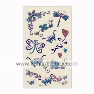 tatuajes temporales hermosa mariposa de una hoja (tyws0023)   USD $ 0