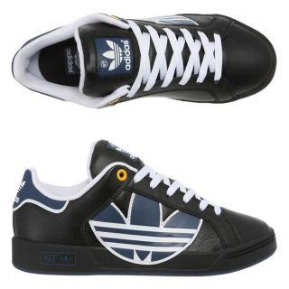 ADIDAS Baskets Trefoil St Homme Noir, blanc et bleu   Achat / Vente