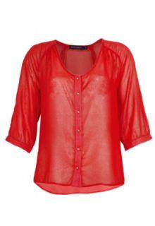 Blusa FiveBlu FiveBlu Night Vermelha   Compre Agora  Dafiti