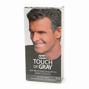 Just For Men Touch of Gray Gray Hair Treatment, Dark Black   Gray T 55