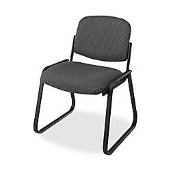 Office Star Deluxe Armless Sled Base Chair 32 12 H x 23 W x 24 D Onyx