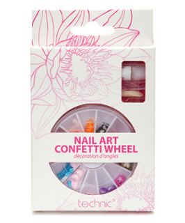 null (Multi Col) Nail Art Confetti Wheel  259142699  New Look