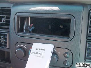 Stereo mounting kit for the 2002 Ram 1500 (Crutchfield Research Photo)