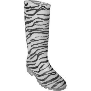 Journee Collection Womens Zebra Print Rain Boots  Meijer