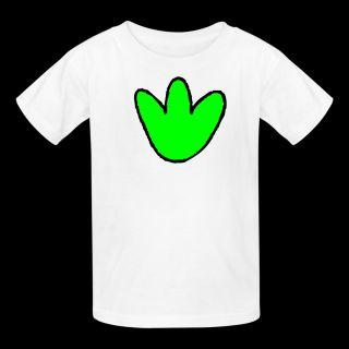 White Cute Dinosaur foot print Kids Shirts