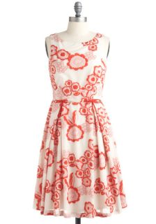Poppy Star Dress by Eva Franco   Red, Pink, Floral, Bows, Casual
