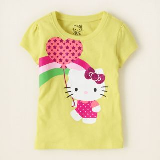baby girl   graphic tees   Hello Kitty balloon graphic tee  Children