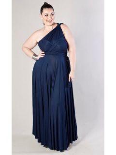 LANE BRYANT   Anastasia Jersey Knit Maxi Dress (Cool Colors) customer