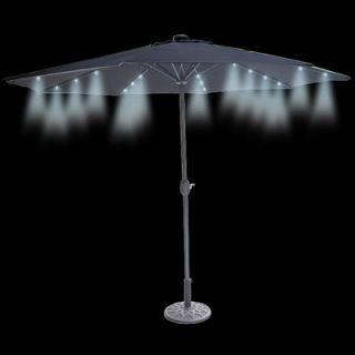 Foot Market Umbrella with Solar LED Lights  Meijer