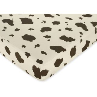Sweet Jojo Designs Cow Print Fitted Crib Sheet   Cowgirl  Meijer