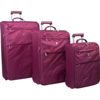 Heys USA AirLite 3 Piece Luggage Set   Dark Burgundy (D209 Burgundy