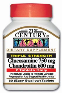 21st Century Triple Strength Glucosamine & Chondroitin 60 Tabs