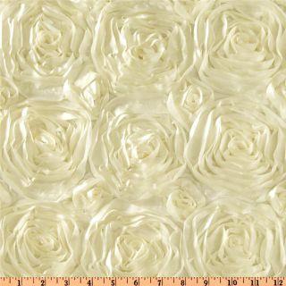 Splenda Satin Ribbon Rosette Ivory   Discount Designer Fabric