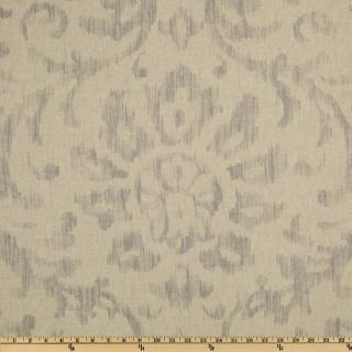 Braemore Henry Ikat Silver   Discount Designer Fabric   Fabric