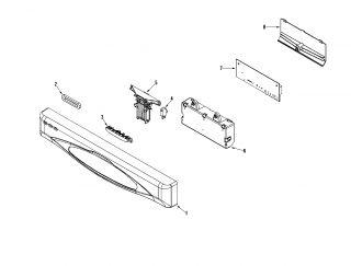 ADMIRAL Admiral dishwasher Supplemental information Parts  Model