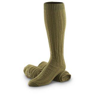 Prs. Of New Czech Military Surplus Wool Socks   755327, Socks at