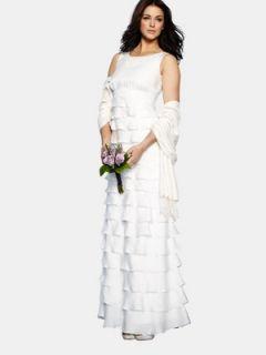 Multi Layer Classic Wedding Dress  Littlewoods