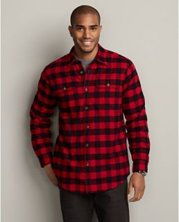 Relaxed Fit Fleece Lined Flannel Shirt Jacket  Eddie Bauer