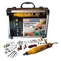 Rotacraft Variable Speed Mini Rotary Tool Kit Cat code 233775 0