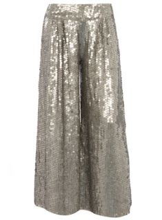 Customer Reviews for Dorothy Perkins UK Pewter sequin palazzo trousers