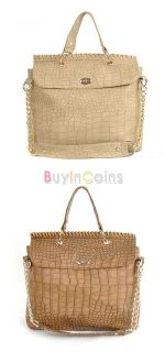 Fashion Beautiful Chain String Rope Crocodile Korean Style Bag Handbag