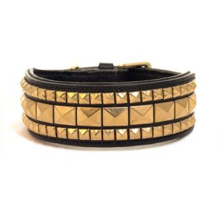 Brass Stud Leather Dog Collar at Brookstone—Buy Now