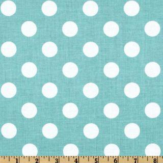 Riley Blake Dots Medium Aqua   Discount Designer Fabric   Fabric