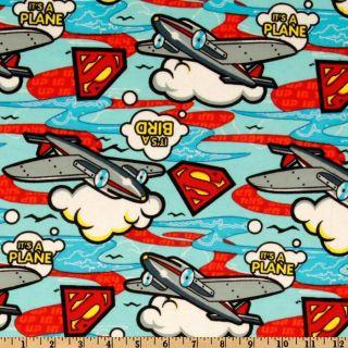 Camelot Flannel Superman Blue   Discount Designer Fabric   Fabric